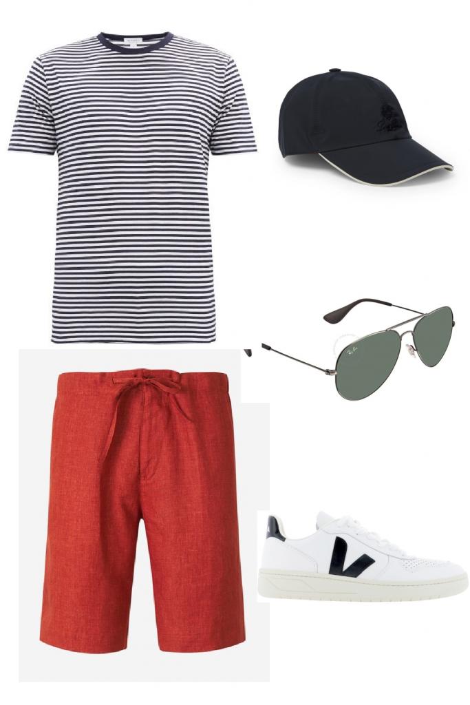 Weekend outfit, color shorts men, color shorts, july 4th outfit, weekend outfits, weekend outfit men,