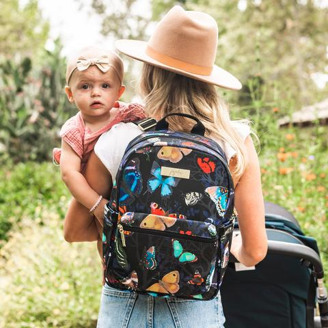 butterfly backpack, woman with baby, woman holding baby, stylish mom with baby, fashionable butterfly, fashionable backpack, stylish backpack, cute baby with mom, cute baby, stylish mom and baby,10 great reasons to hire a stylist, online personal styling, online personal stylist,