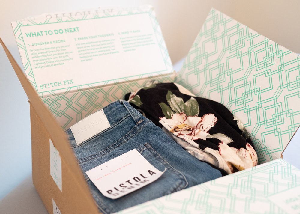 10 great reasons to hire a stylist, online personal stylist, online personal styling, stitch fix, stitch fix box, pistola jeans, floral top, stitch fix returns, stitch fix return, stitch fix purchase, subscription box, subscription clothing box