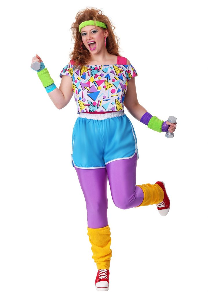 1980 outfit, aerobic outfit, 80's aerobic outfit, funny workout outfit, neon workout outfit, neon aerobic outfit, 10 great reasons to hire a stylist